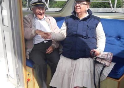 Happy passengers