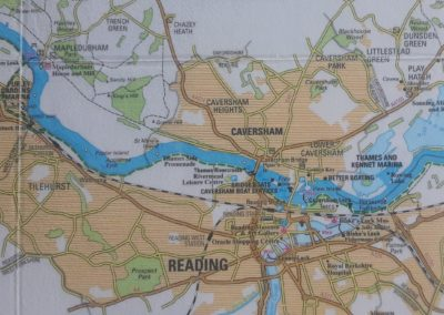 Reading trip map