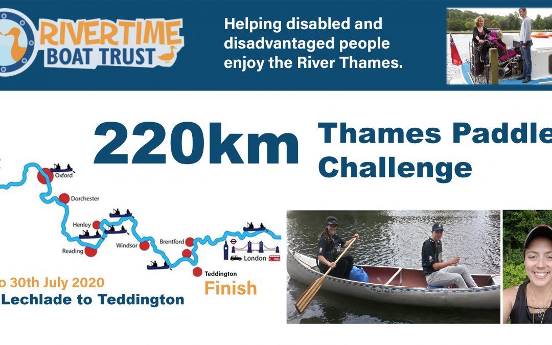 Rivertime 220Km Thames Paddle Challenge
